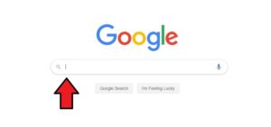 Google search engine with search bar